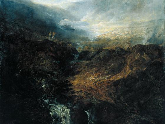 Joseph Mallord William Turner (1775 – 1851), Morning amongst the coniston Fells, Cumberland, Exhibited 1798, © Tate: Accepted by the nation as part of the Turner Bequest 1856, © Photo: Tate, 2019