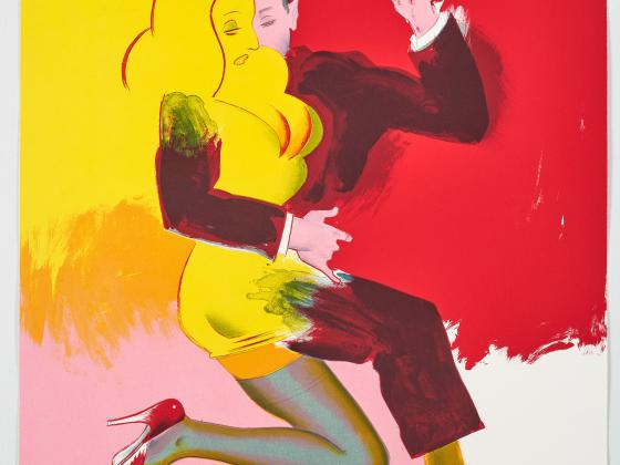 Allen Jones, Jump (Between the Sheets series), 2007,  Color Lithographie on Rives, 82 x 65 cm