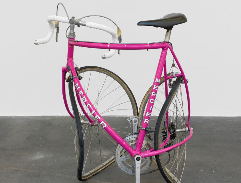 twisted pink racing bike by Alicia Kwade