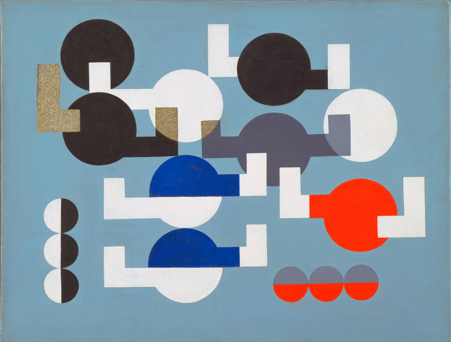 "Sophie Taeuber-Arp ""Composition of Circles and Overlapping Angles"", 1930, ab März in Basel zu sehen"