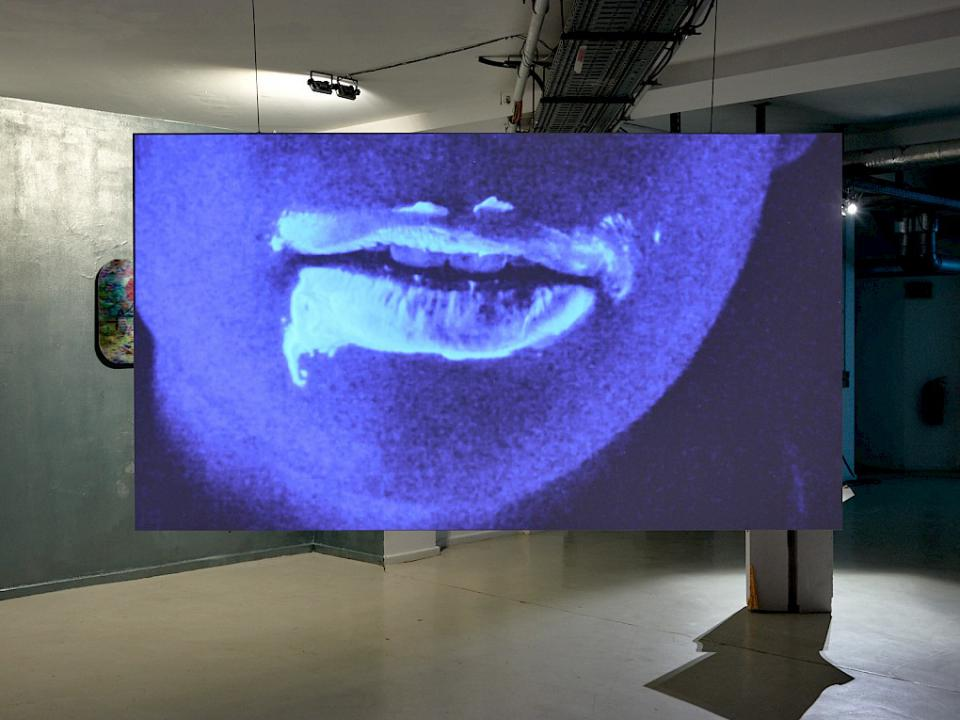 "Julieta Aranda ""Lip Dip Paint Talk (Your mouth is Bleeding)"""