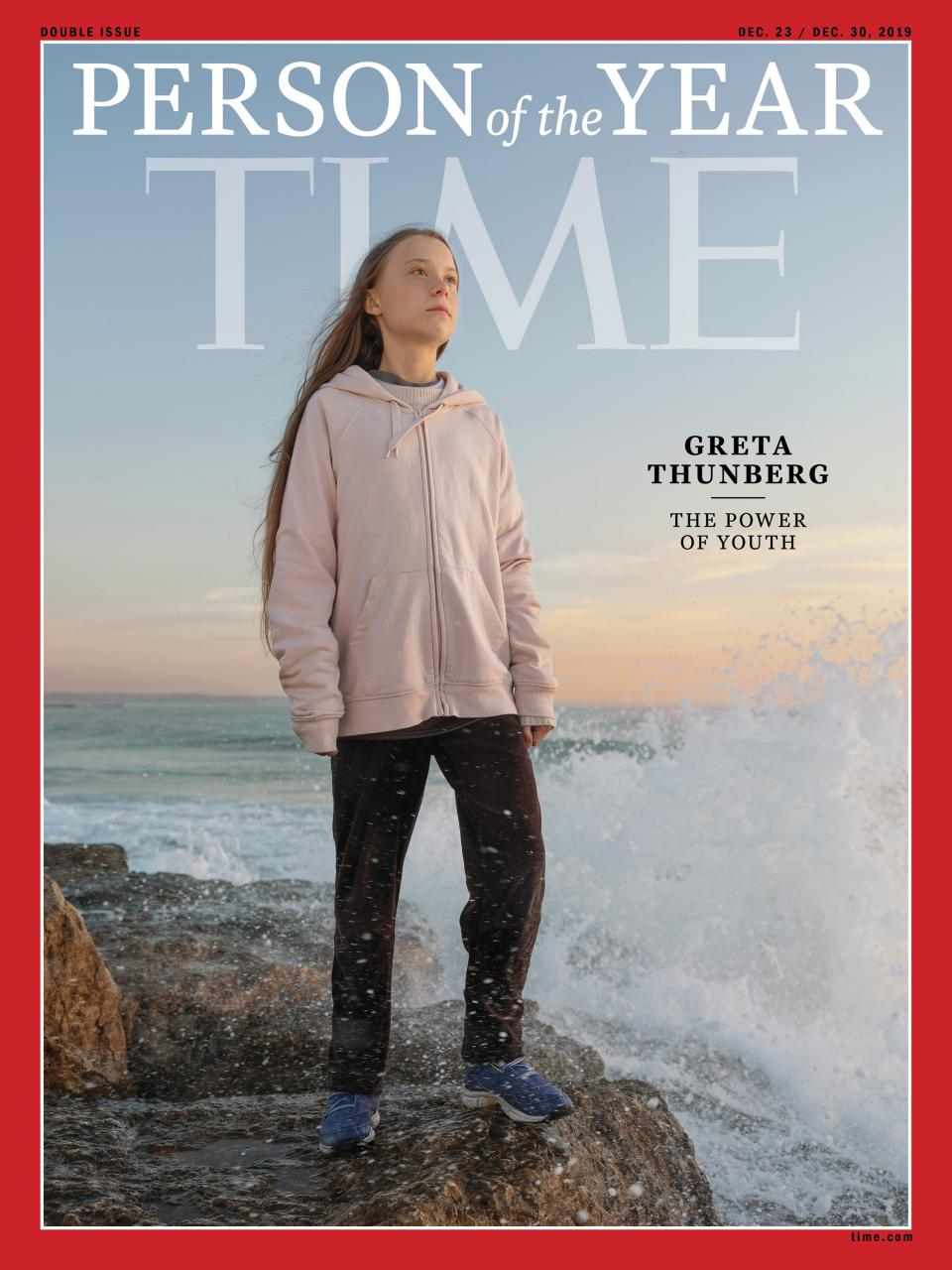 "Greta Thunberg als ""Person of the Year"" auf dem Cover des ""Time Magazines"""