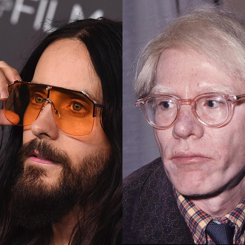 Jared Leto (links) will Andy Warhol spielen