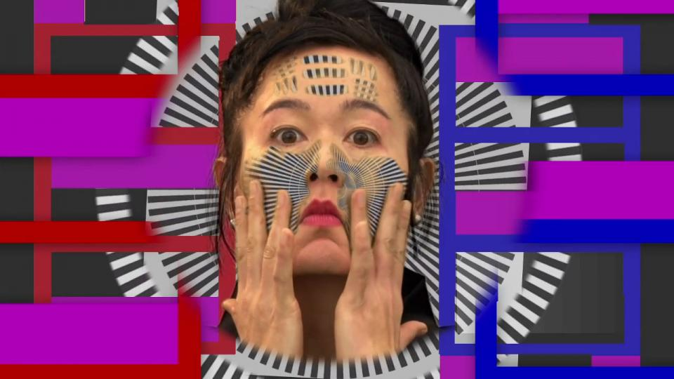 "Hito Steyerl in ihrer Videoarbeit ""How Not to Be Seen: A Fucking Didactic Educational .MOV File"", 2013"