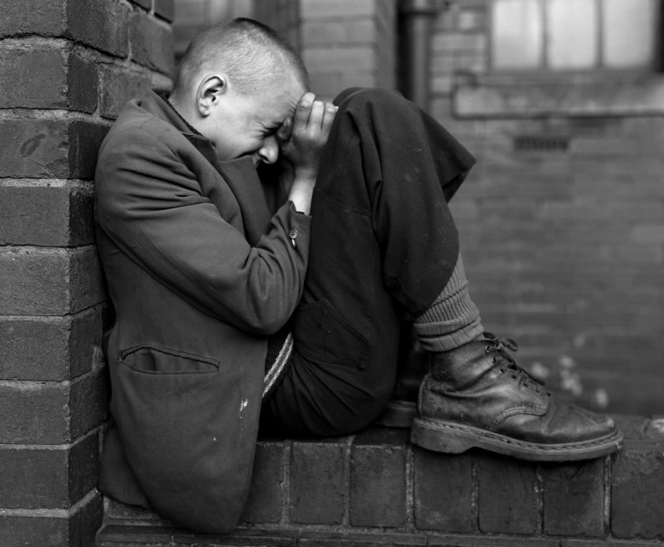 "Chris Killip ""Youth on wall, Jarrow, Tyneside"""