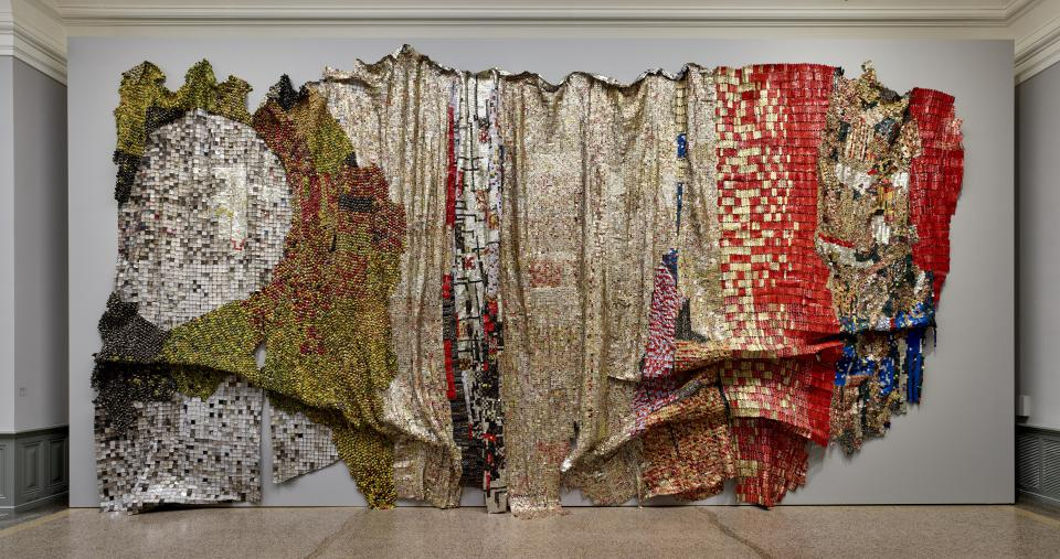 "El Anatsui ""In the World But Don't Know the World"", 2009"