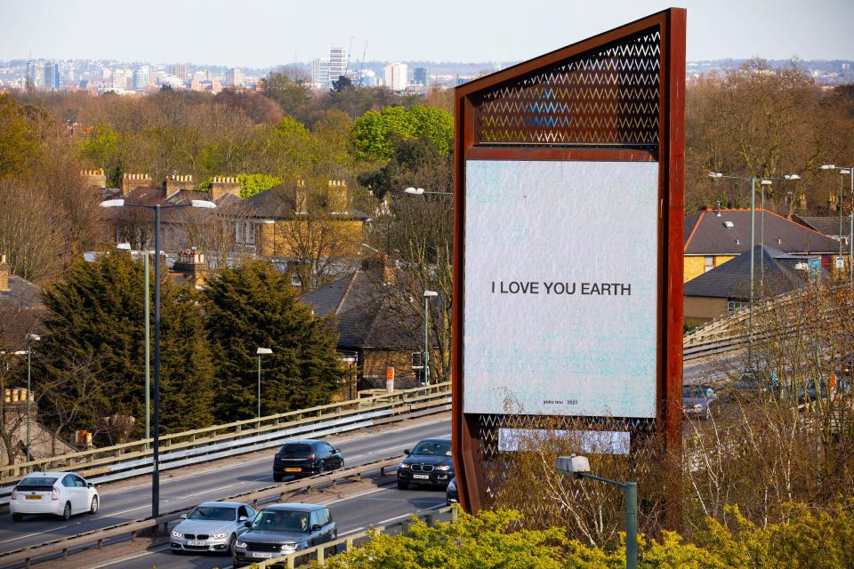 "Yoko Ono ""I Love You Earth"", 2021"
