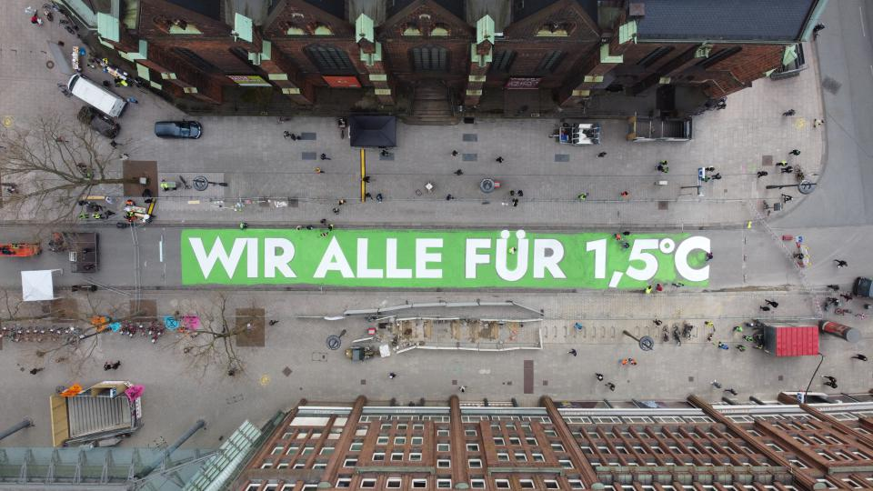 "Aktion von ""Fridays For Future"" Mitte März in Hamburg"