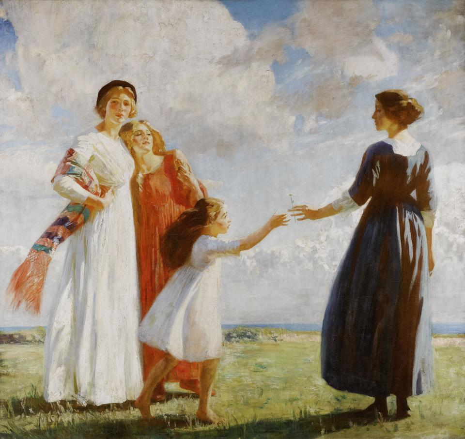 "Dame Laura Knight ""The Flower (The Gift)"""