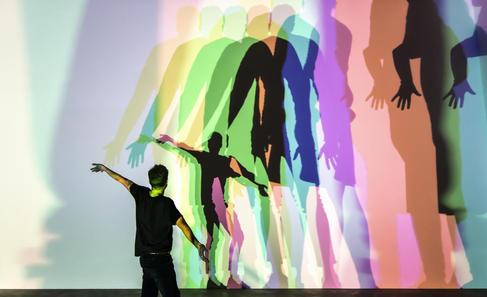 "Olafur Eliasson ""Your Uncertain Shadow (Colour)"", 2010"