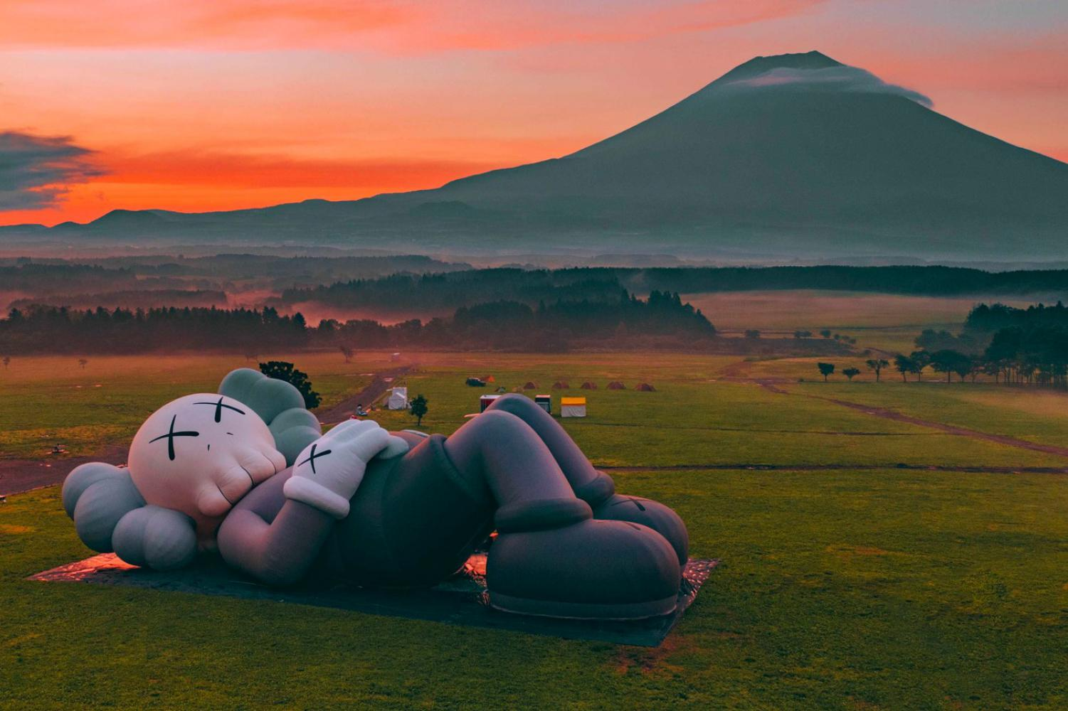 "Kaws: ""Holiday"", Mt. Fuji, 2019"