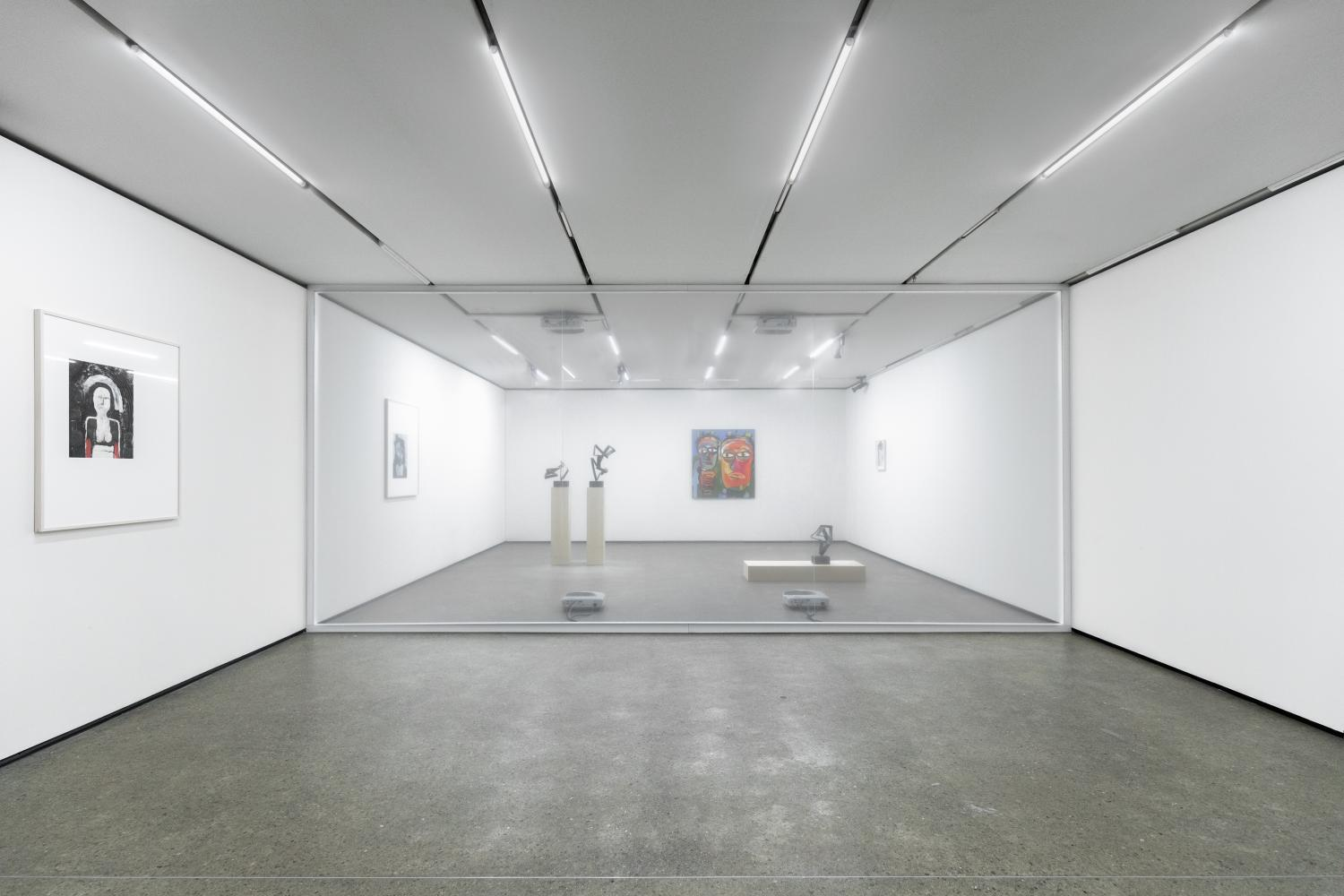 Christopher Kulendran Thomas in collaboration with Annika Kuhlmann, Being Human, 2019, Digital projection on acrylic. Installation View, Time, Forward