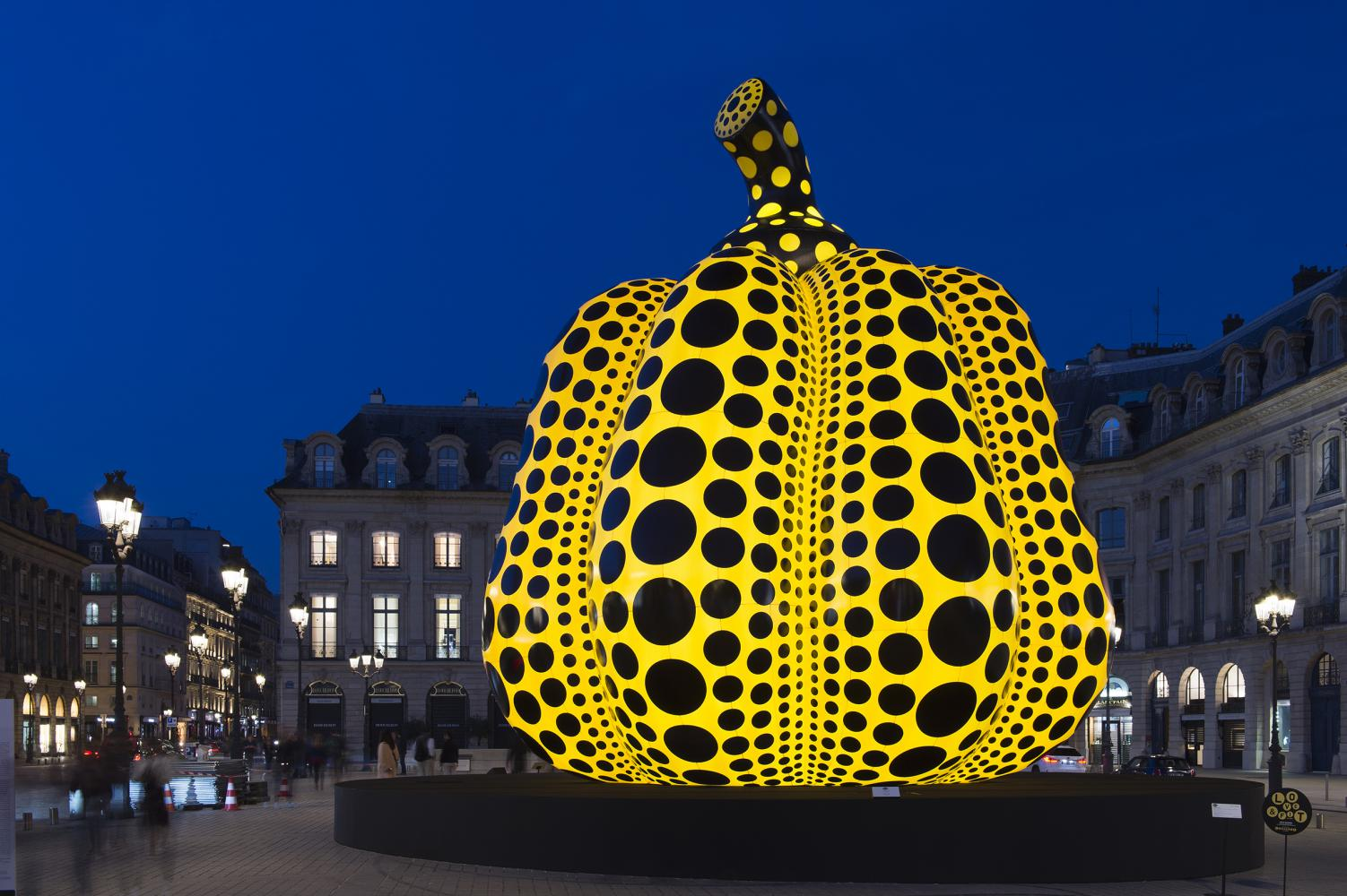 "Yayoi Kusama ""Life of the Pumpkin Recites, All About the Biggest Love for the People"", 2019, Paris"