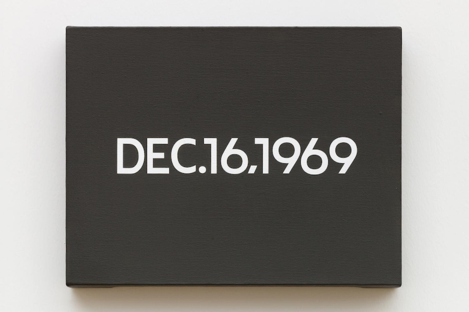 "On Kawara, ""DEC.16,1969"", 1969"