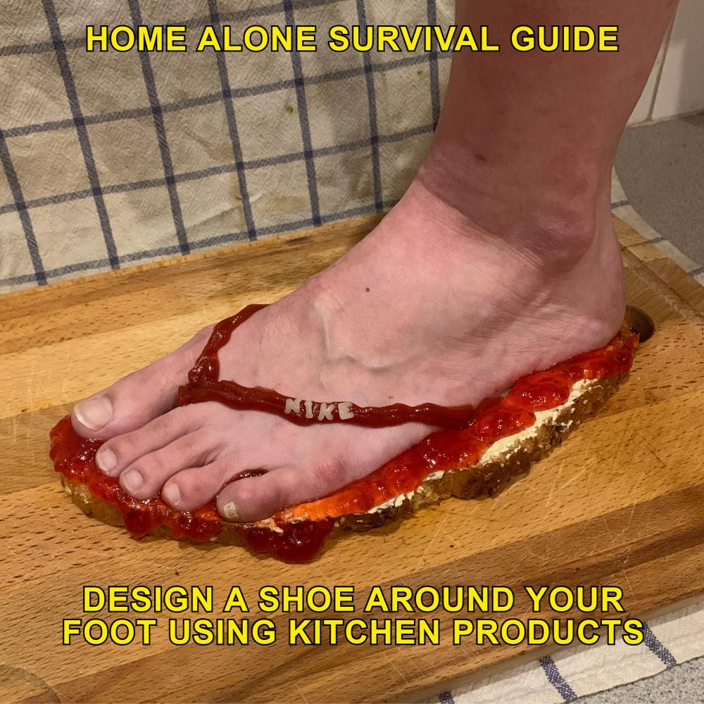 """Design a shoe around your foot using kitchen products"""