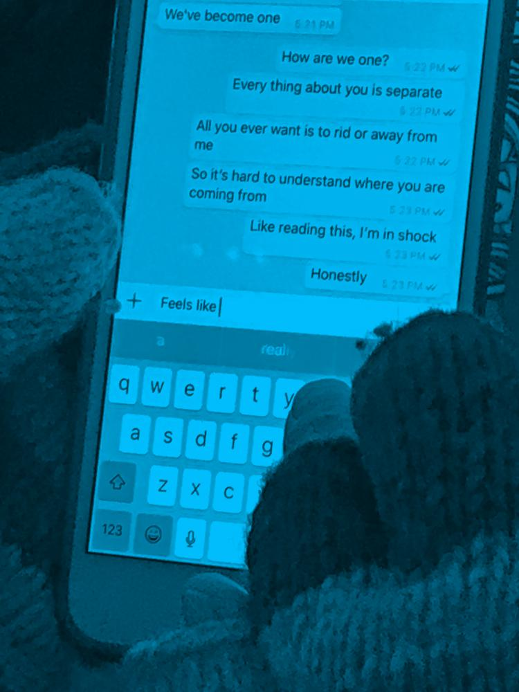 Jeff Mermelstein's photo of a New Yorker's text messages